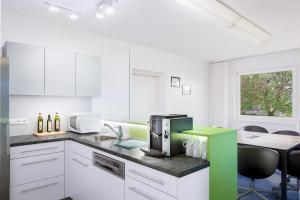 Modern ausgestatte Küche für alle CoWorker im Leuchtturm